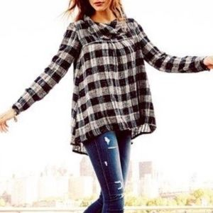 Free People | Plaid Cowl Neck Sweater - A19